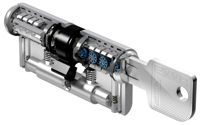 Схема цилиндра EVVA MCS