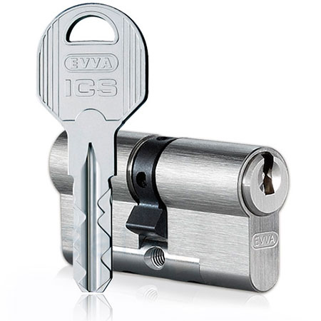 Evva ICS 102mm 46*56 ключ-ключ (латунь,никель)