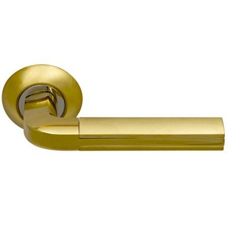 Дверные ручки ARCHIE SILLUR-96 S.GOLD/P.GOLD золото глянец / матовое золото