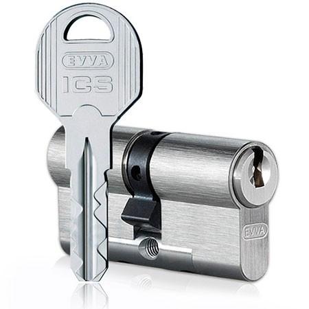 Evva ICS 82mm 41*41 ключ-ключ (латунь,никель)