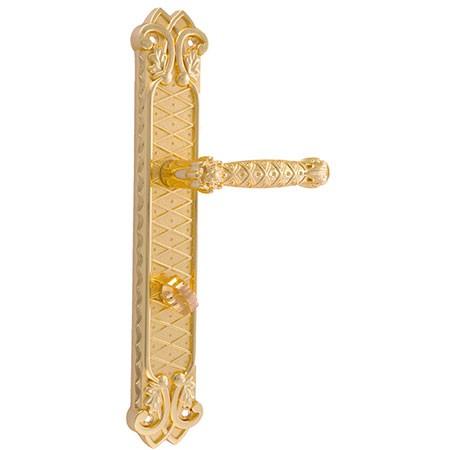 Дверная ручка на планке под фиксатор ADC Milan-BK11 gold