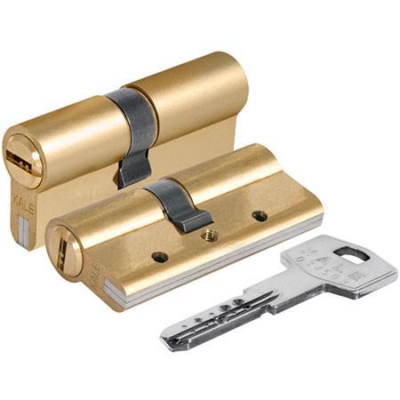 Цилиндр (личинка для замка) Kale-Kilit 164 DBNE/70 (35*35) латунь, ключ-ключ