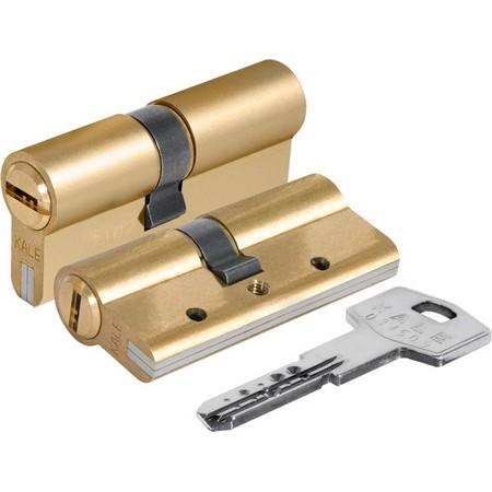 Цилиндр (личинка для замка) Kale-Kilit 164 DBNE/80 (40*40) латунь, ключ-ключ