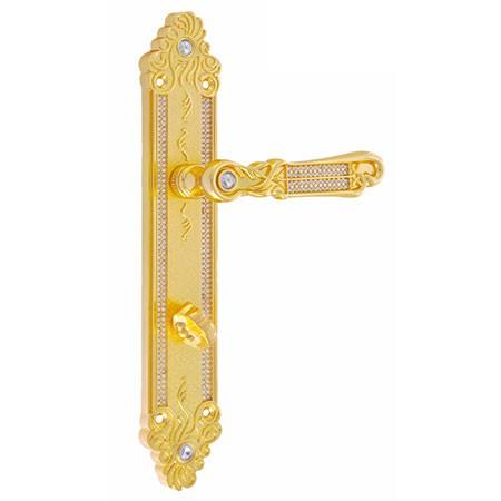 Дверная ручка на планке под фиксатор ADC Verona-BK11 gold