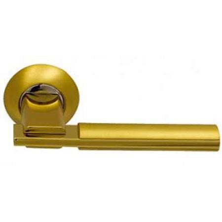 Фото Дверные ручки ARCHIE SILLUR-94A S.GOLD/P.GOLD золото глянец / матовое золото