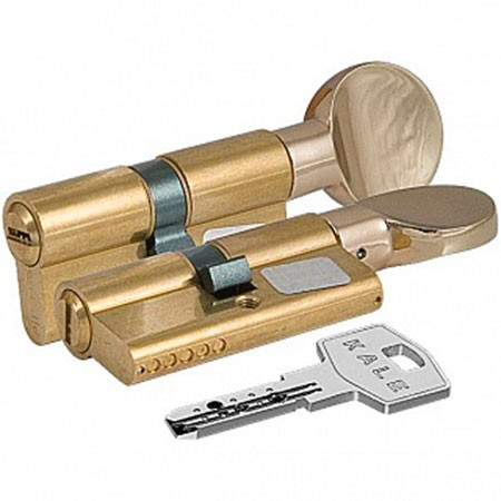Цилиндр (личинка для замка) Kale-Kilit 164 BM 80 (40*40) золото ключ-вертушка