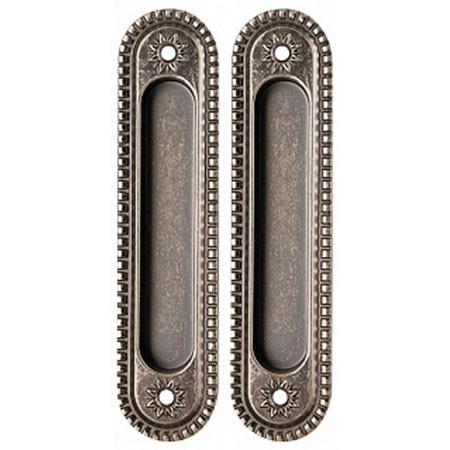 Ручка для раздвижных дверей Armadillo SH010/CL AS-9 Античное серебро