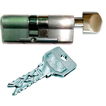 Evva 3KS 107mm 31*76 ключ-вертушка (латунь,никель)