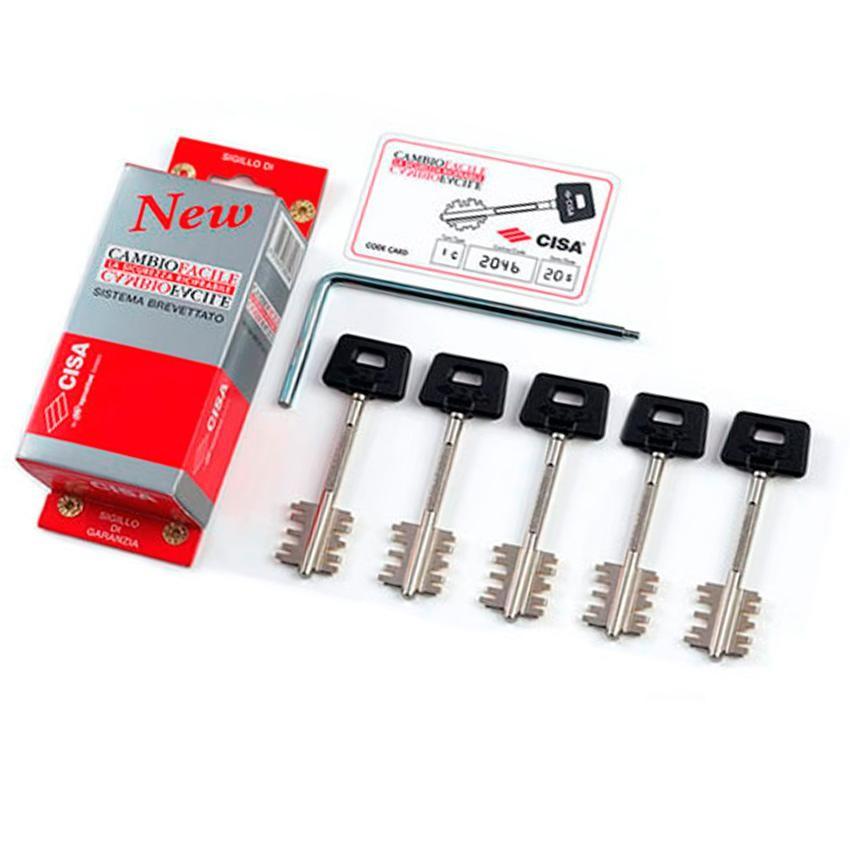 Комплект ключей для перекодировки Cisa 06520.51.1 New Cambio (44 мм, 5 ключей)