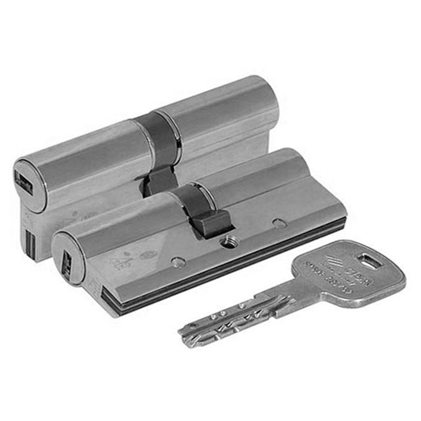 Цилиндр (личинка для замка) CISA AP3 OH3S1-43-0-12 (100мм/45*55) кл/кл никель