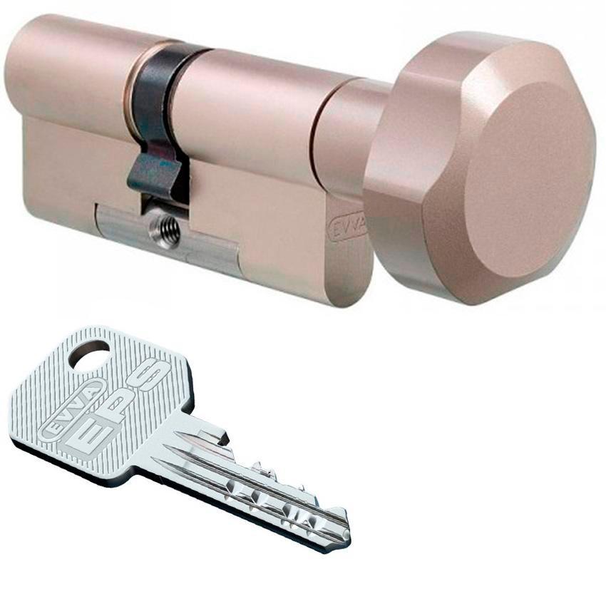 Evva EPS 87mm 41*46 ключ-вертушка (латунь,никель)