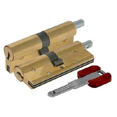 Цилиндр (личинка для замка) CISA RS3 S OL3S2.23.0.66.С5 (100мм/50*50 кл/верт) латунь