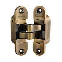Петли дверные скрытой установки Armadillo Architect 3D-ACH 40 AB (бронза,правая)