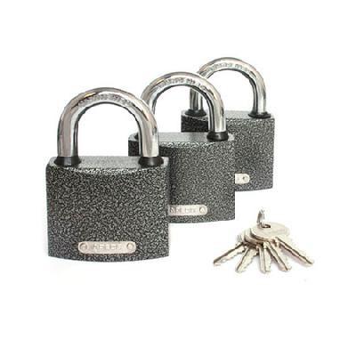 Замок висячий Apecs PD-01-63 (3 Locks + 5 Keys) 63 мм