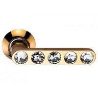 Дверные ручки ARCHIE SILLUR-200 P.GOLD/CRYSTAL