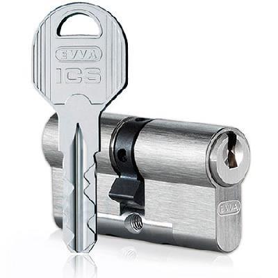 Evva ICS 92mm 46*46 ключ-ключ (латунь,никель)