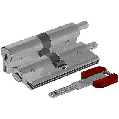 Цилиндр (личинка для замка) CISA RS3 S OL3S2.29.0.12.С5 (90мм/45*45 кл/верт) никель