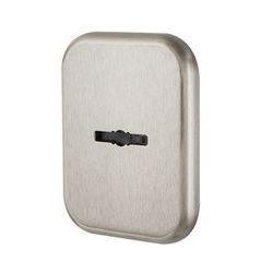 Декор. Квадратная Armadillo (Армадилло) накл. на сувальдный со шторкой PS-DEC SQ CT (ATC Protector 1) SN-3 Мат.никель