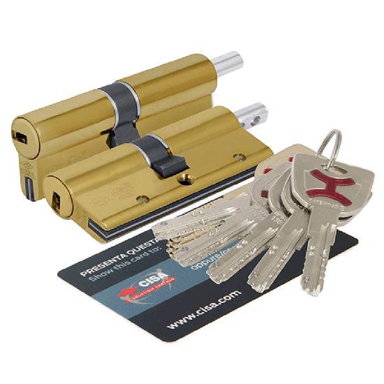 Цилиндр (личинка для замка) CISA AP4 OP3S2-13-0-66 (70мм 35*35) ключ вертушка