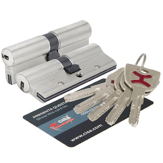 Цилиндр (личинка для замка) CISA AP4 OP3S1-43-0-12 (100мм/45*55) ключ ключ