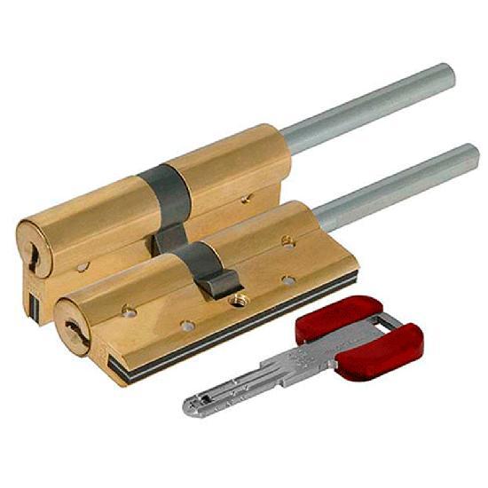 Цилиндр (личинка для замка) CISA RS3 S OL3S7.07.0.66.С5 (60мм 30*30 ключ вертушка хвостовик)