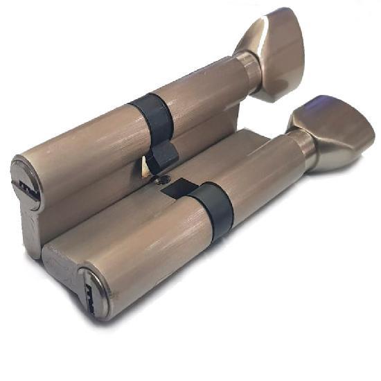 Цилиндр (личинка для замка) VANTAGE PC100 (50*50) SN ключ-вертушка