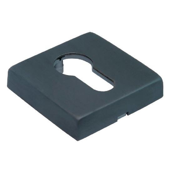 Накладка на цилиндр Morelli Luxury LUX-KH-Q BLACK матовая черная бронза