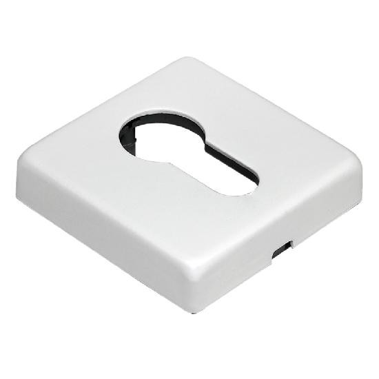Накладка на цилиндр Morelli Luxury LUX-KH-Q BLACK белый