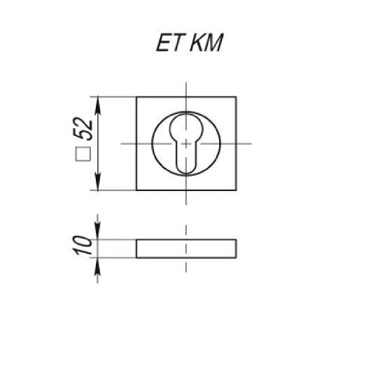 Накладка под цилиндр Vantage ET02L