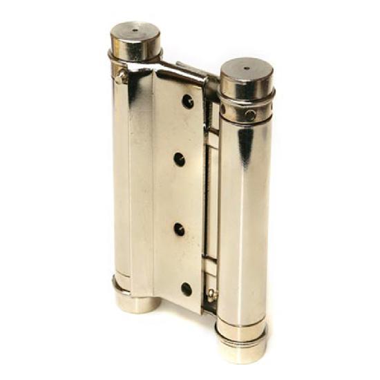 Петля пружинная двойная Amig 3037-100*126 (никель) 9818